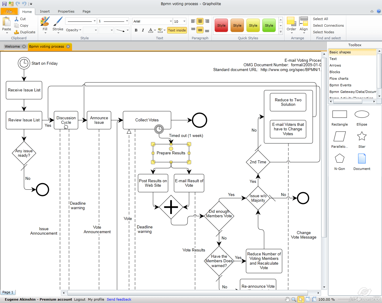 Grapholite Online Diagramming Solution Now Supports BPMN