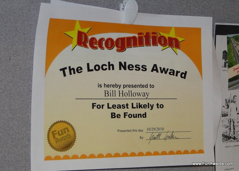 funny awards for employees