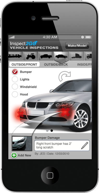 Inspect2GO Launches Mobile App Solutions for Inspection of Equipment Rental Cars and Vehicles