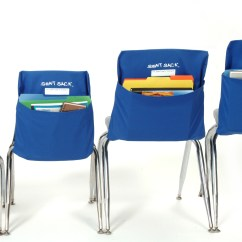Chair Pocket Organizer Canvas Folding Teachers And Students Organize With Fresh New School Supply