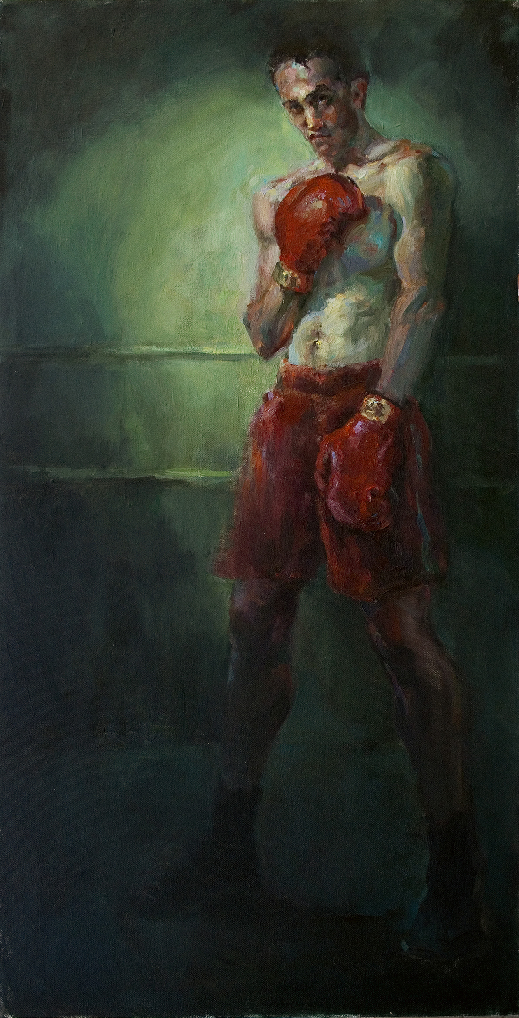 Boxing Painting by Julie Snyder Hangs in National Art Museum of Sport Exhibit