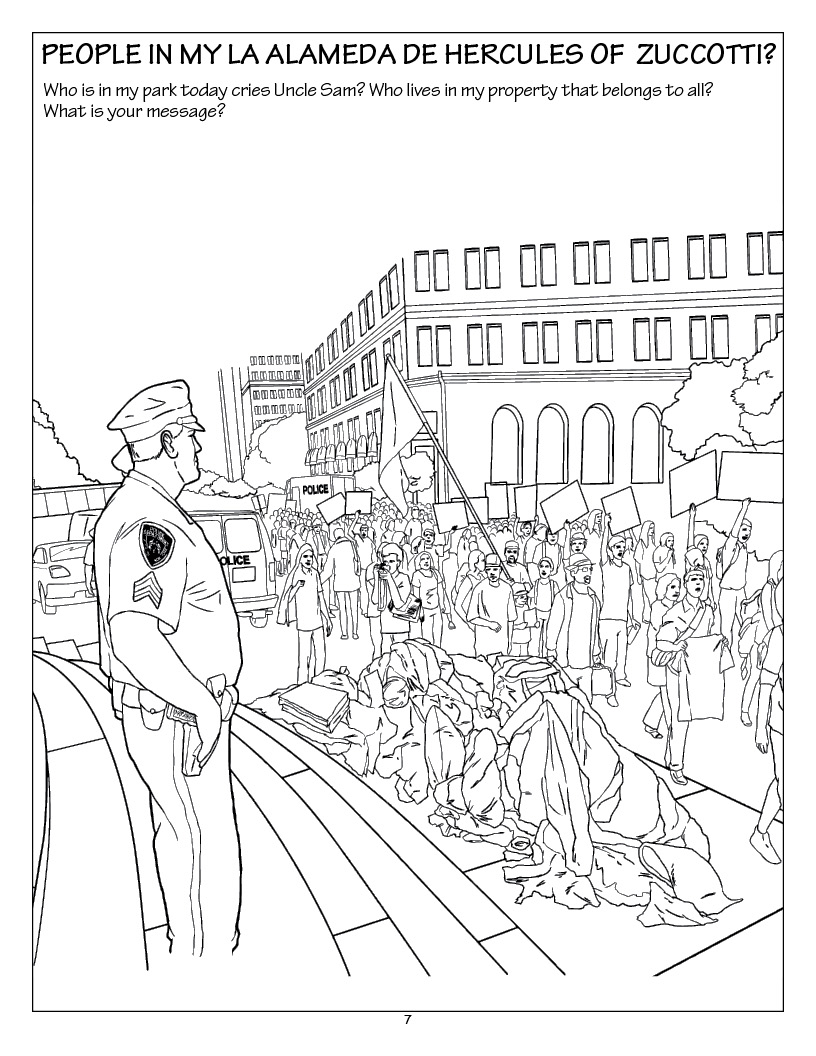 Occupy: A Grown-Up Coloring Book Novel released by Really