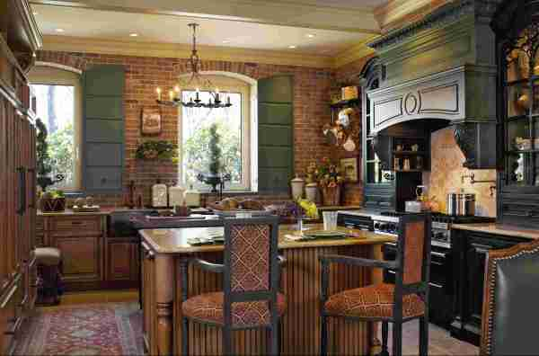 French Country Style Kitchen Design