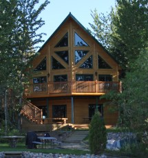 Timber Block Insulated Log Home