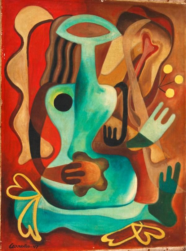 Rare Grant Wood Portrait And Cuban Artist Mario Carreno