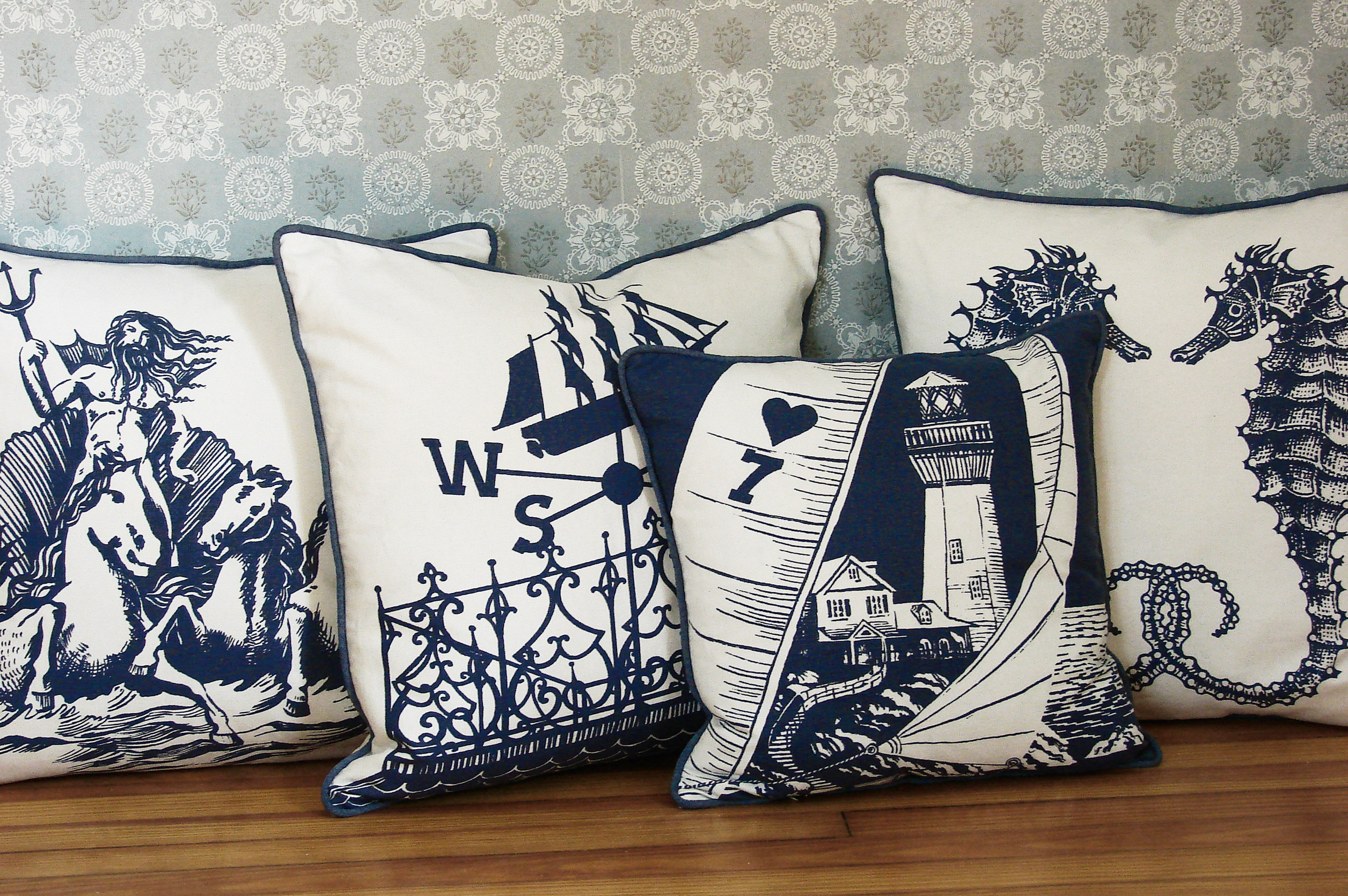 Sunny Skies and Nautical Themes in the Modern Bedding 2012