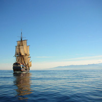 Image result for a ship setting sail