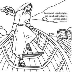 Jesus Calms the Storm Origami Craft Card Helps Children