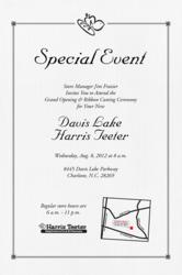 Grand Opening of Harris Teeter in Charlotte, N.C.