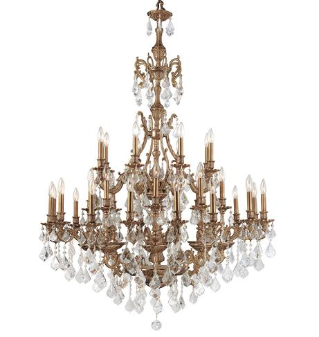 Yorkshire Ornate Aged Brass Chandelier With Swarovski Strass Crystals From Crystorama