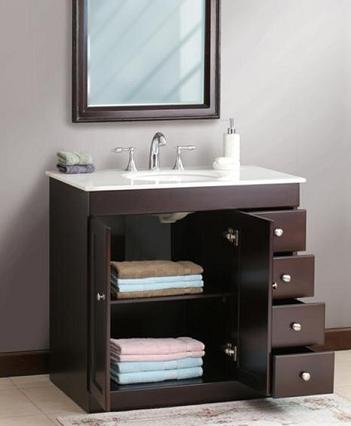 A Guide to Small Bathroom Solutions along with a Selection of Storage Smart Bathroom Vanities is