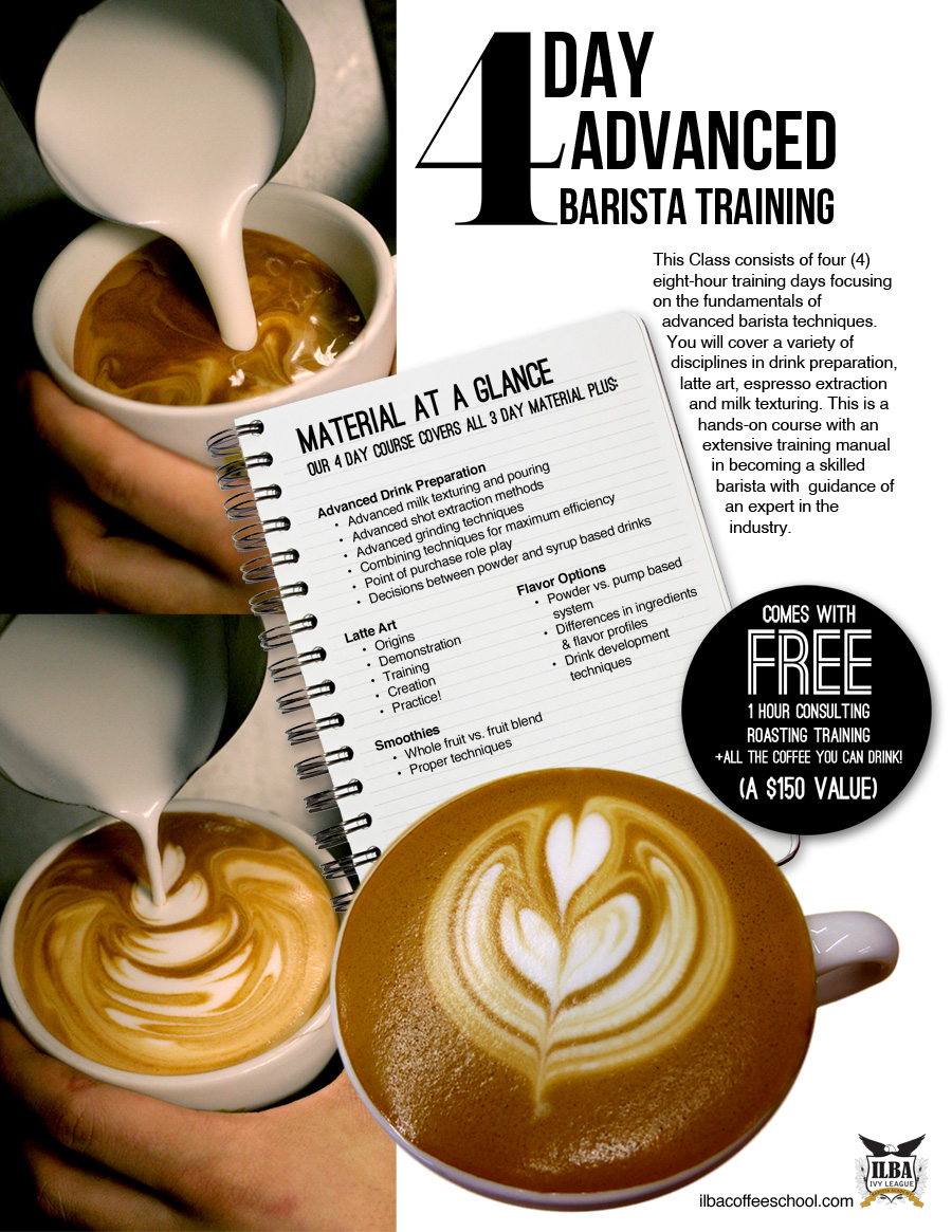 The Barista Training At ILBA Coffee School Guides Their