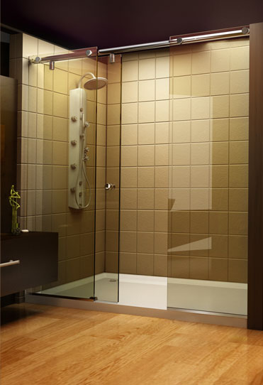 A Tip Sheet on Shower Doors vs Shower Curtains is introduced by HomeThangscom  Home