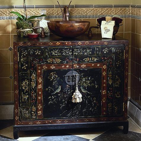 A Selection of Hand Painted Bathroom Vanities to Add