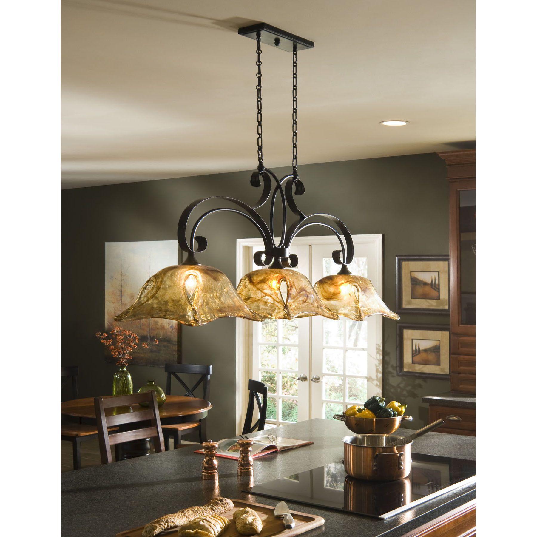 kitchen chandelier lighting wood mode kitchens a tip sheet on how the right can make