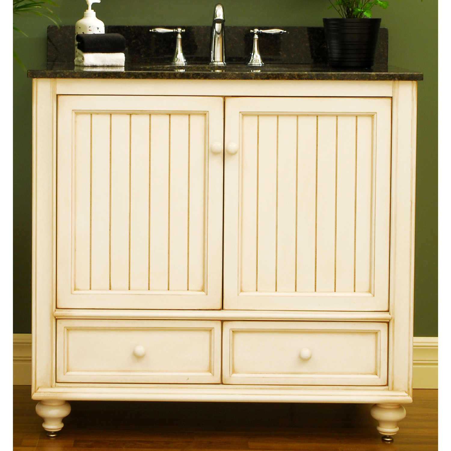 A Selection of White Bathroom Vanities by Sagehill Designs for a Relaxing Seaside Cottage Style