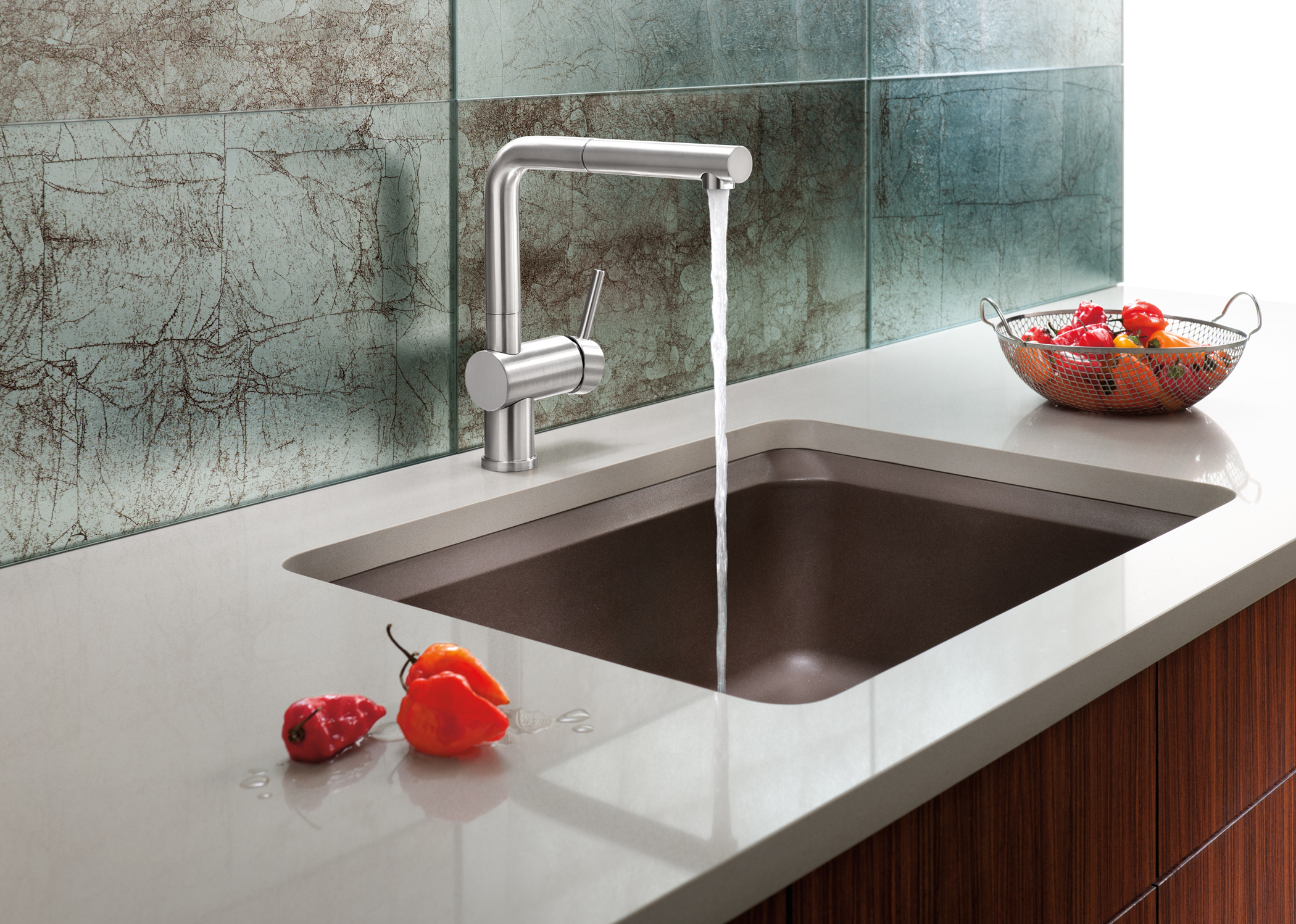 designer kitchen faucets refurbished table and chairs the new blanco silgranit ii vision sink