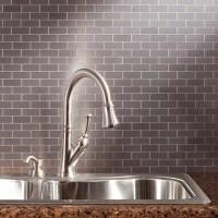 Aspect Matted Peel & Stick Metal Backsplash Tiles Named to ...