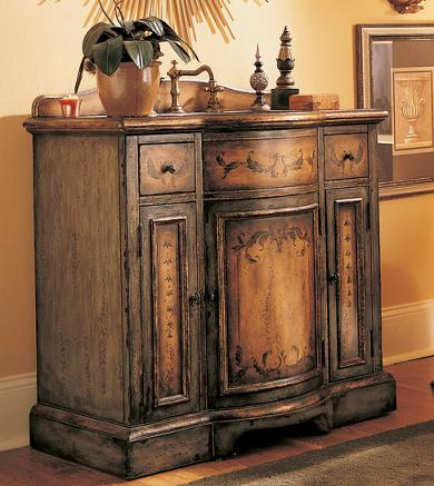 Weathered Wood Bathroom Vanities for a Cottage Style