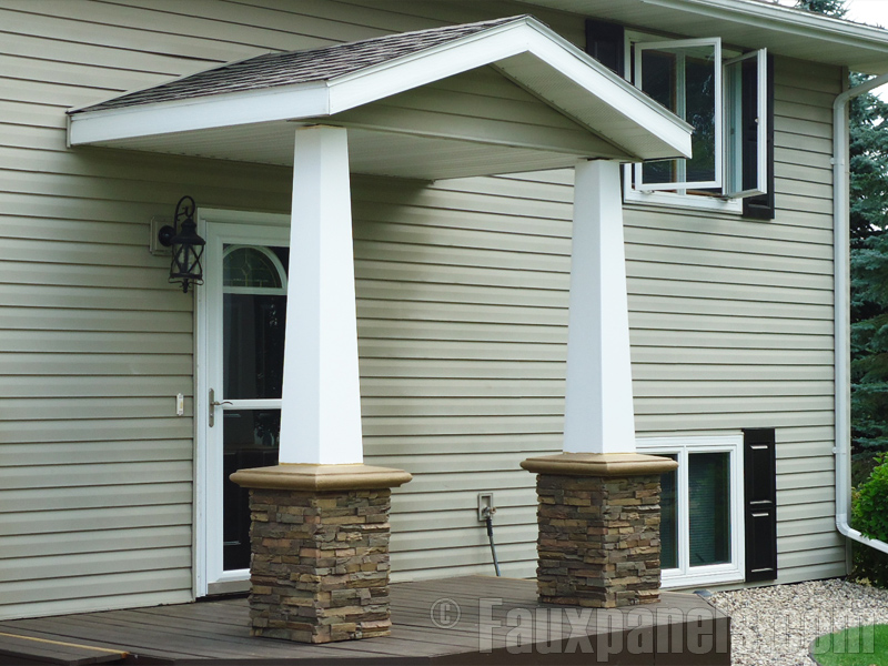 Square Fluted Porch Columns