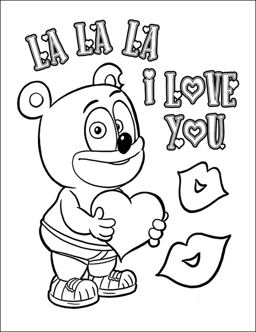 The Third Annual Gummibär Valentine's Day Coloring Page