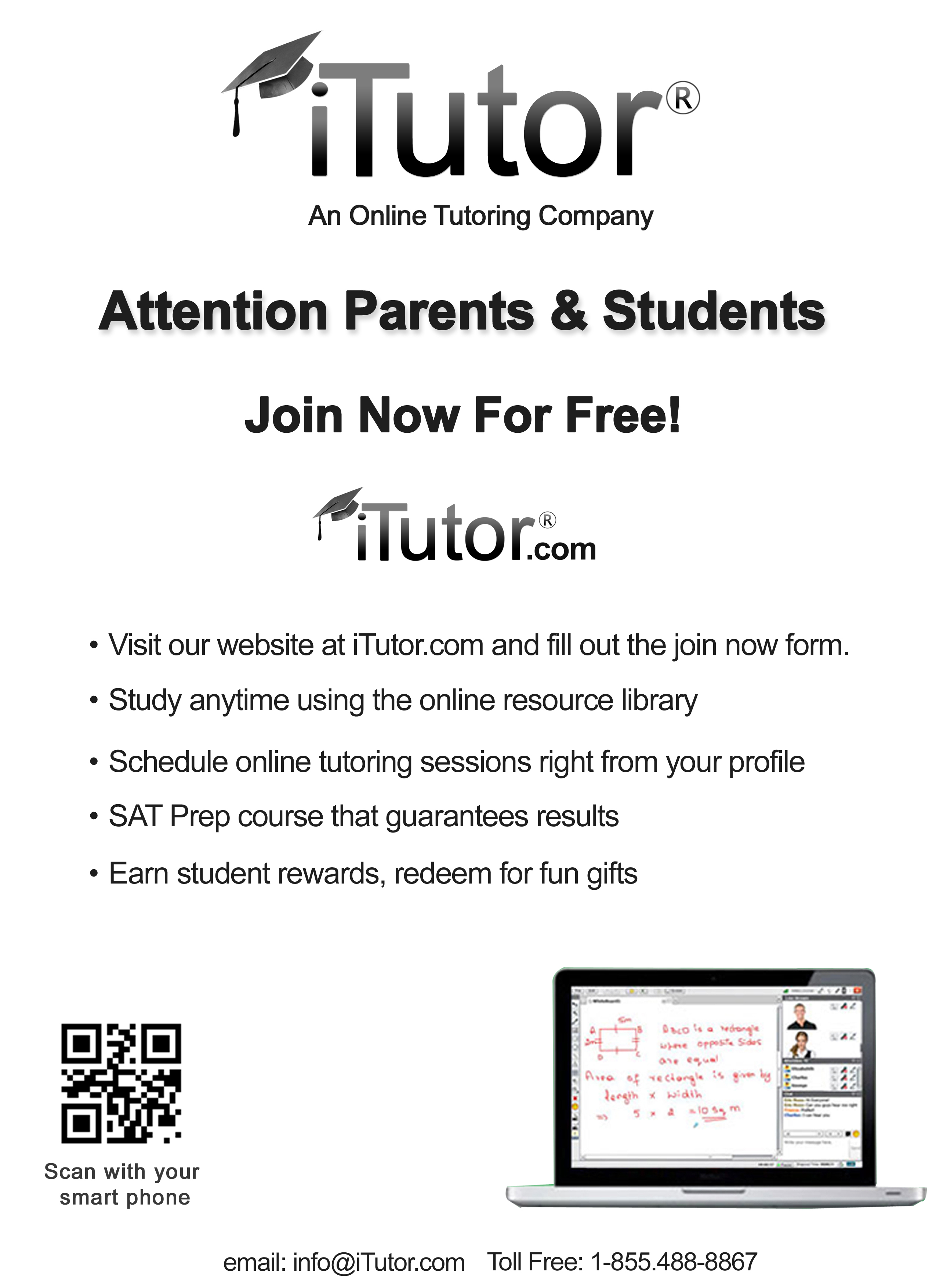 iTutor.com Campaigns for State Exam Preparation & Home