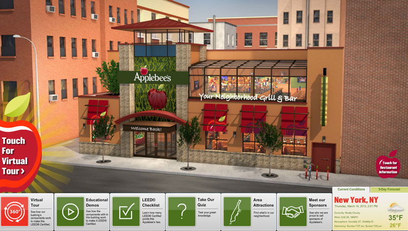 QA Graphics Helps NYC Applebees Educate about Green