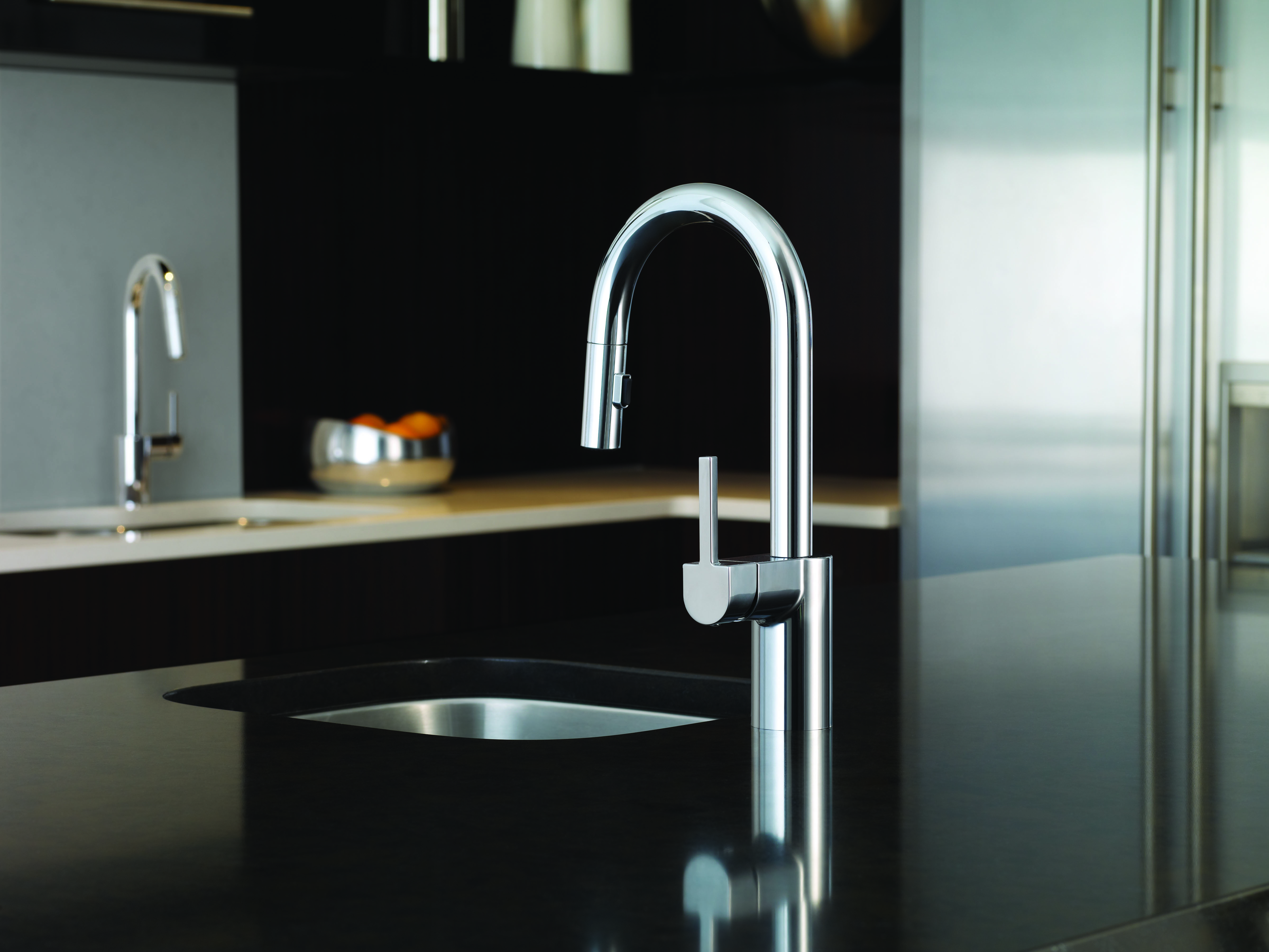 contemporary kitchen faucets types of cabinets bring a little chic to the sink with new moen align