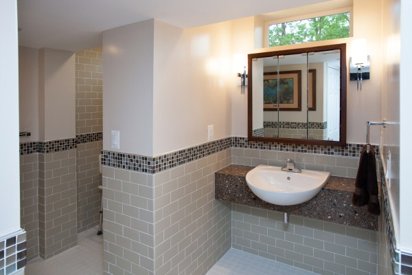 Smallest Home Addition Makes Bathroom Design Remodel Possible