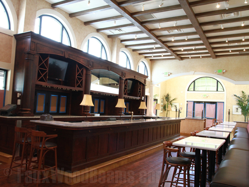 Faux Wood Beams Pairs with Brio Tuscan Grille for Its