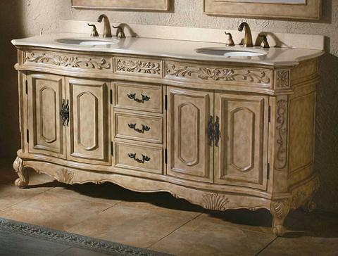 HomeThangscom Has Introduced a Guide to Ornate Antique White Bathroom Vanities