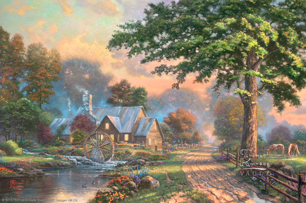 4k Fall Painting Wallpapers The Thomas Kinkade Company Announces The New Release Of