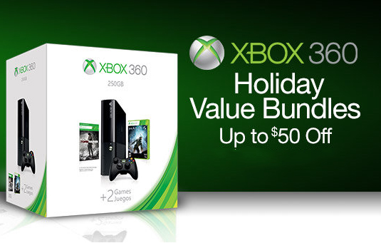 Xbox 360 Holiday Bundle Up To 50 Off Available On Amazon