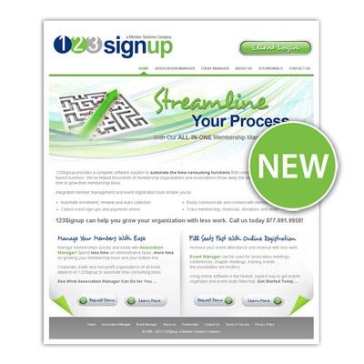 Member Management Software Provider. 123Signup. Unveils New Website