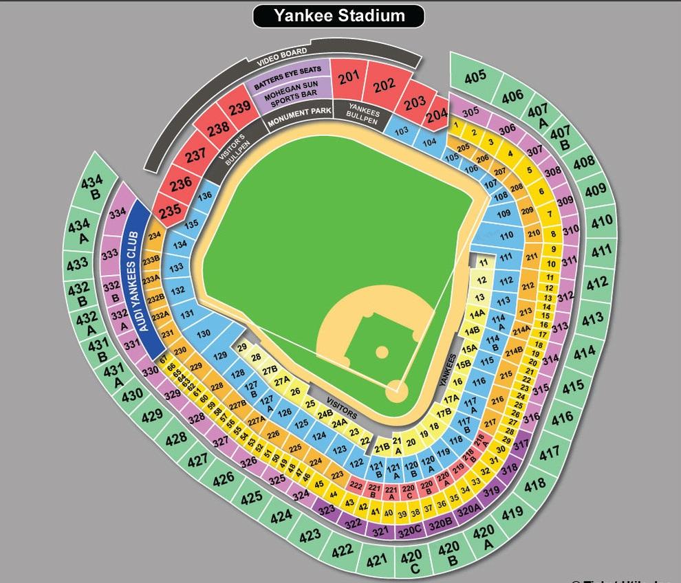 Yankees Seating Chart Pdf Wallseatco
