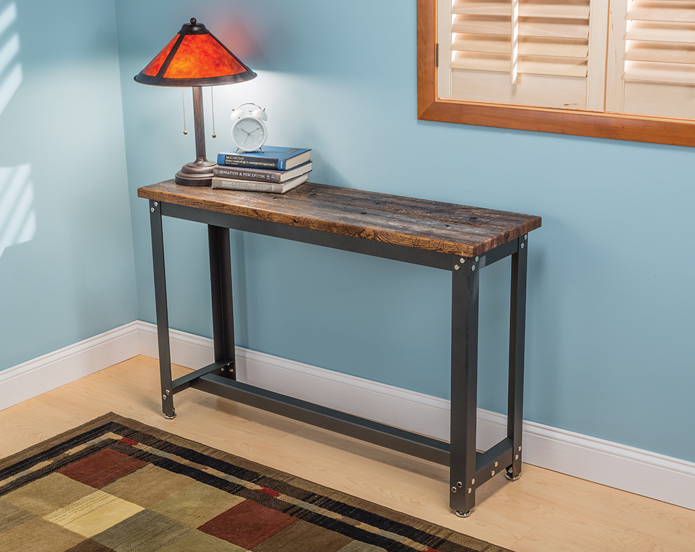 rustic sofa table canada silver leather tufted rockler adds contemporary diy accent tables - new steel ...
