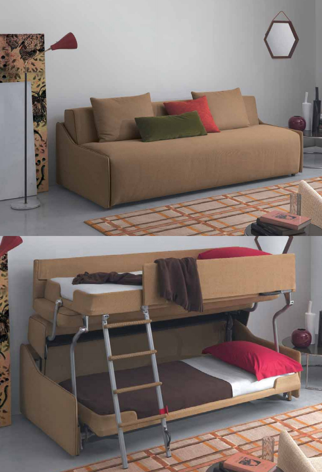 transforming sofa bed upholstery cleaning bangalore resource furniture debuts bunk system