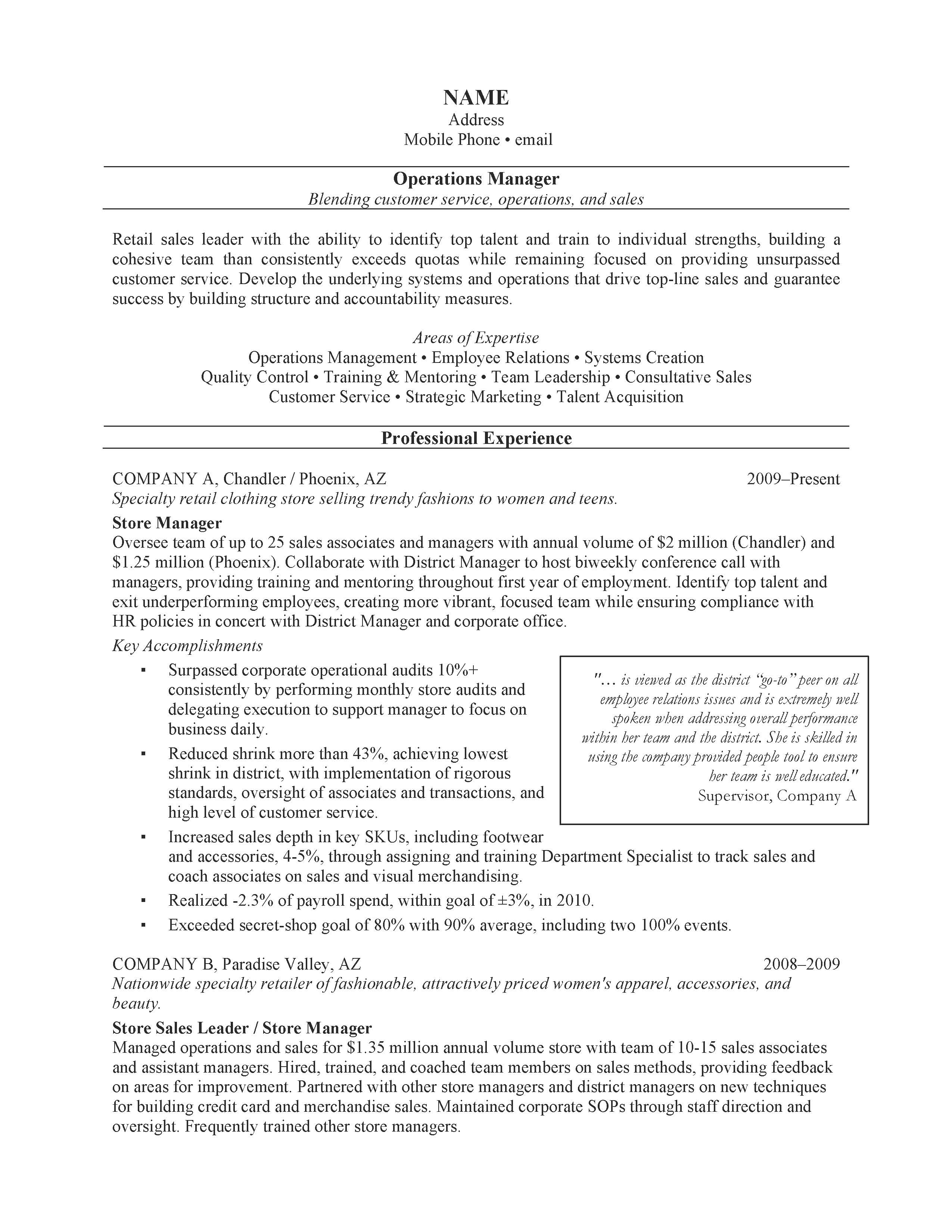 accomplishment on resume examples