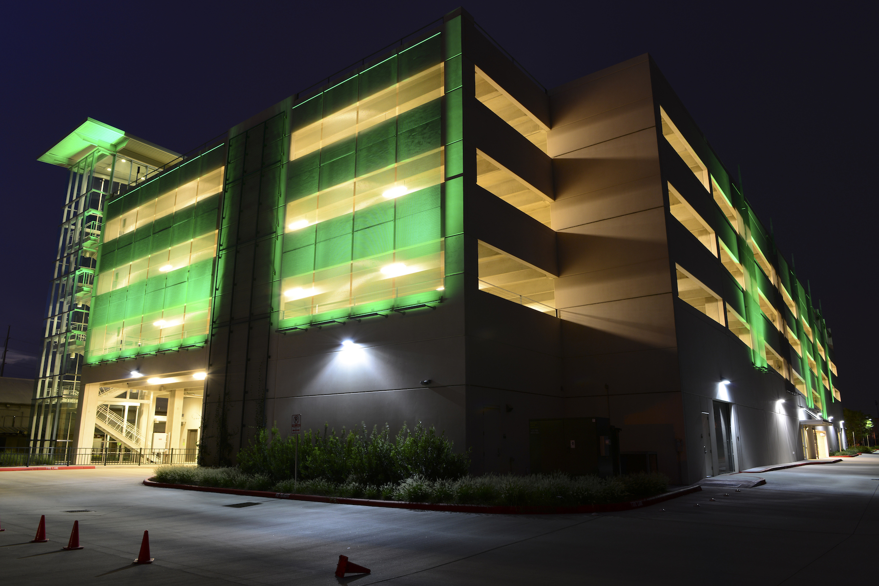 Architectural Mesh Transforms Exterior Parking Facades in Projects from Manitoba to Mississippi