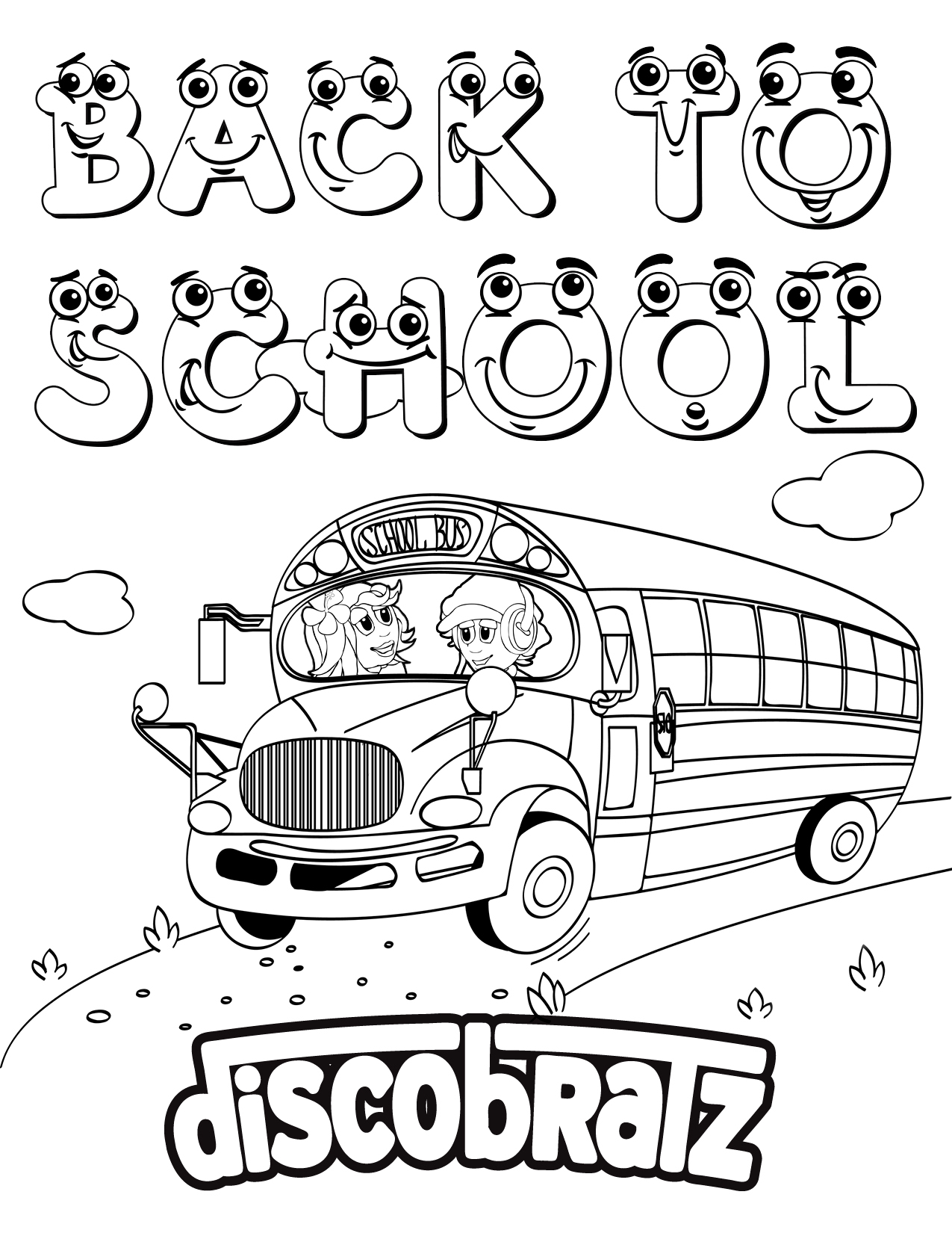 DiscoBratz Releases Back to School Coloring Page