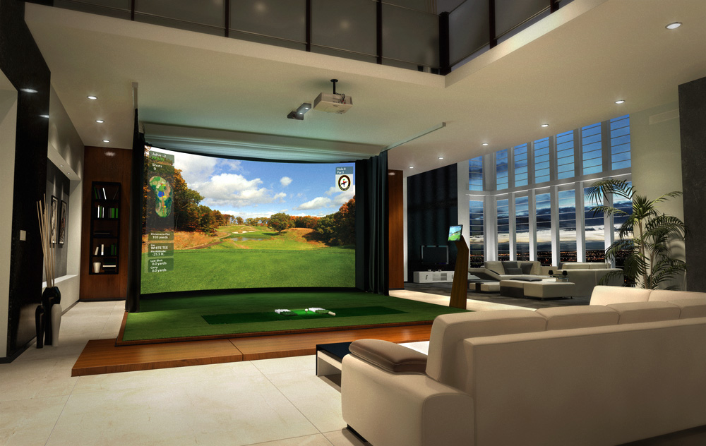 Next Evolution in Home Entertainment HD Golf Simulators