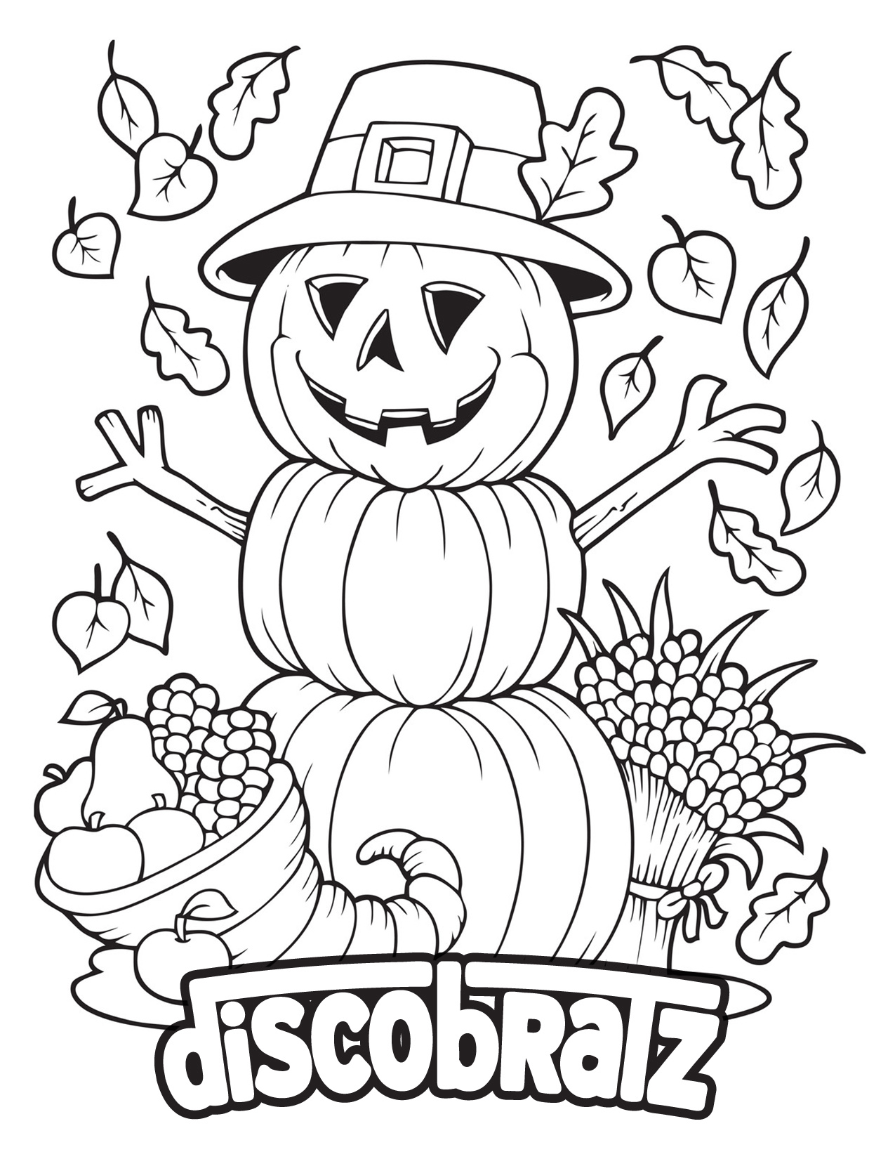 All Hallow's Eve Brings Another Coloring Page from the