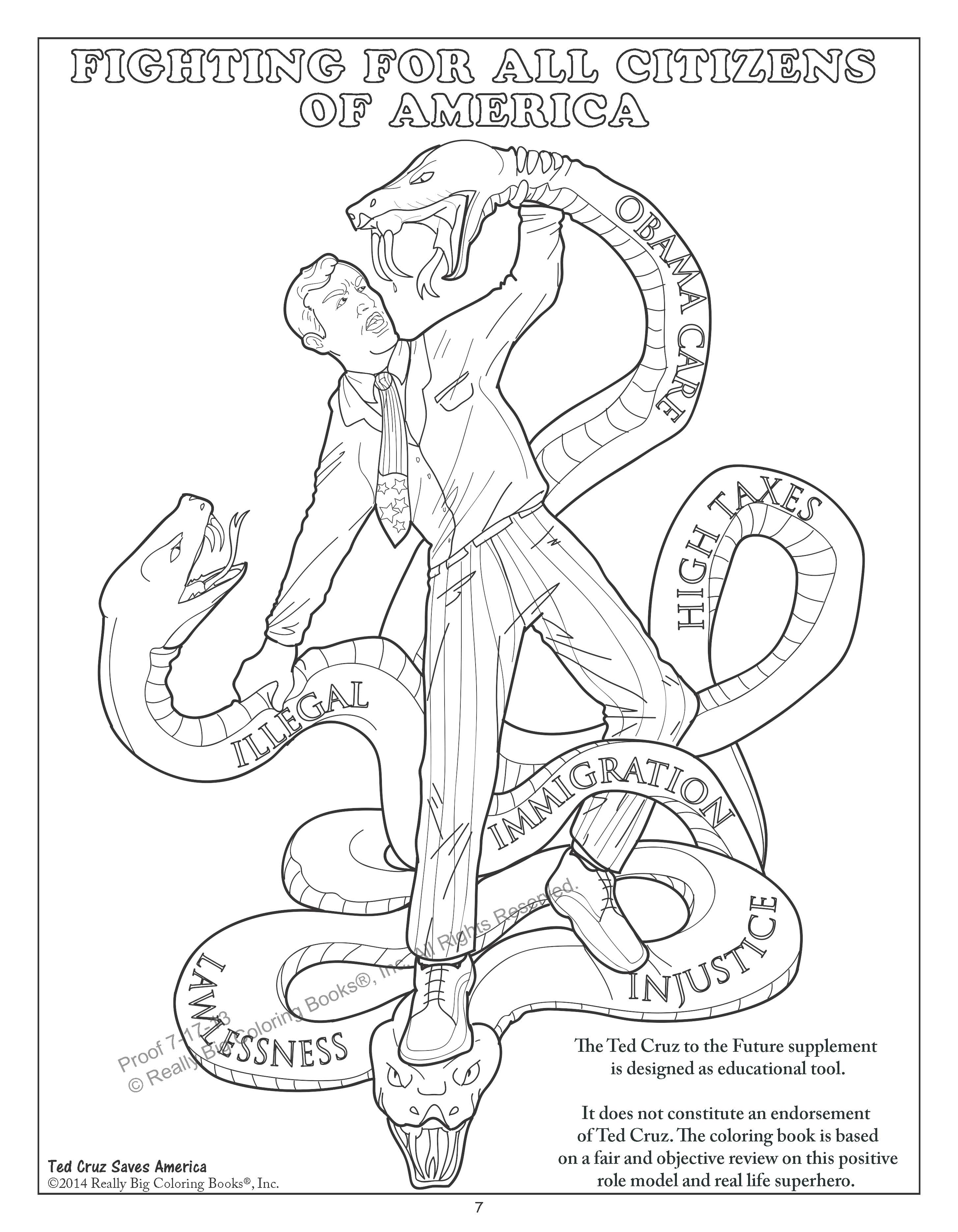 Ted Cruz to the Future Coloring Book Selling Strong Proves