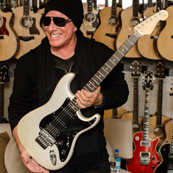 "Neal Schon ""Lights"" Strat at Bananas at Large http://bananas.com/neal-schon-bananas-exclusive"