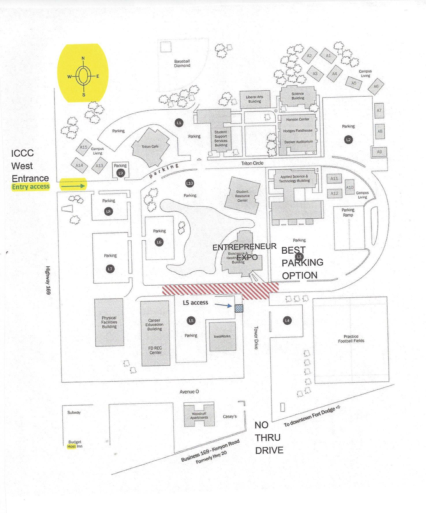 Unf college campus map