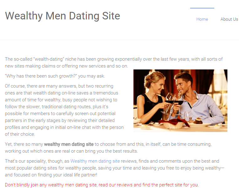 Brand New Dating Website WealthyMenDatingSite.com Launched ...