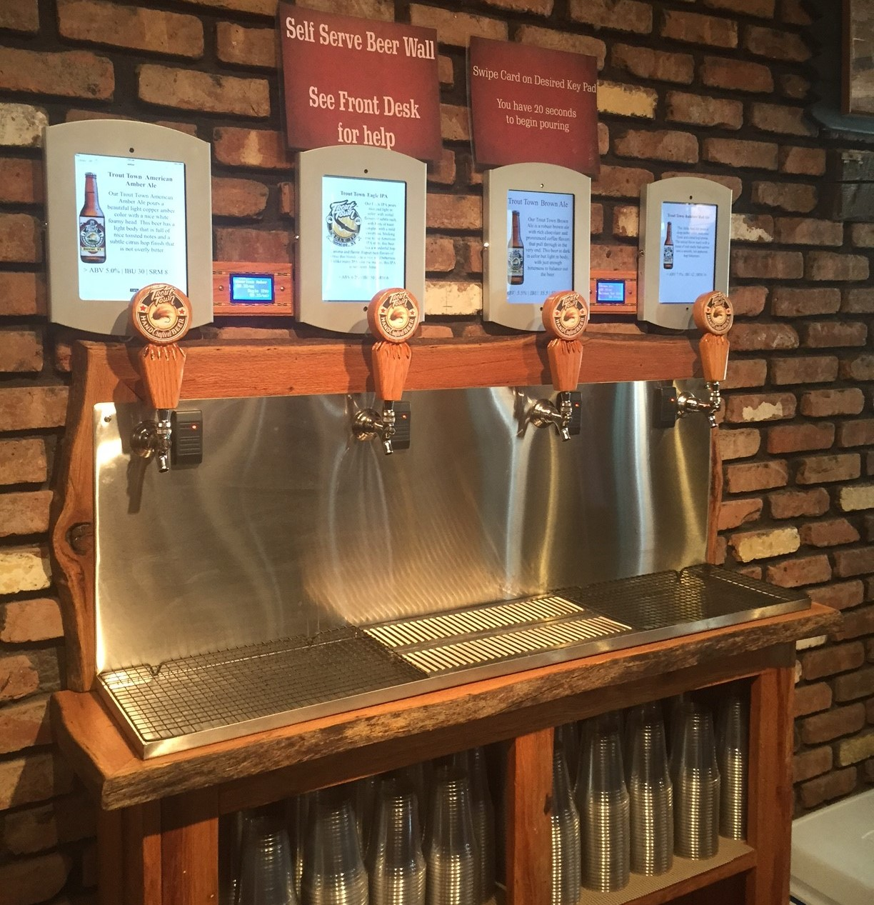 Roscoe Brewing Company brings SelfService Beer to Trout