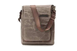 The Field Muzetto laptop bag—waxed canvas and premium chocolate leather