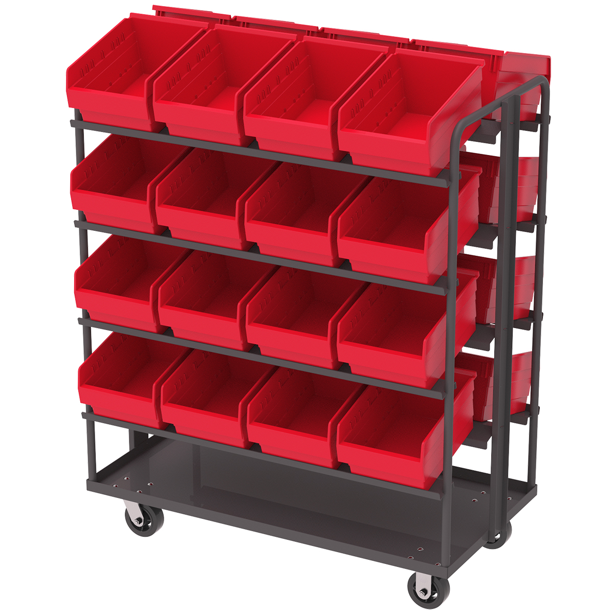 AkroMils Introduces DualSided PickingStocking Carts