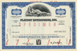 Scripophily.com is Now Offering an Original Stock Certificate from Playboy Enterprises, Inc. Showing an Image of a Playmate, and Hugh Hefner's Signature